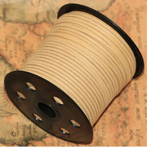 10yd 3mm Suede Leather String Jewelry Making Bracelet DIY Thread Cord khaki