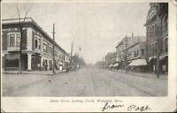 Wakefield MA Main St. North Stores c1905 Postcard