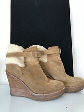 UGG Suede Wedge Ankle Boots Size 4.5