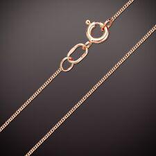 Russische Rose Rotgold 585 dünne Halskette Rombokette Rombo Goldkette. 0.5 mm