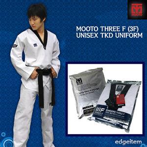 MOOTO 3F Unisex Taekwondo Uniform Black V-Neck Male Dobok TKD