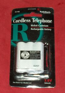 NOS Radio Shack Rechargeable 3.6V Nickel Cadmium Cordless Telephone Battery 2012