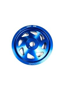 OBX Blue Crank Pulley For 12 To 18 Toyota 86 FT86 GT86 13 To 16 Scion FR-S