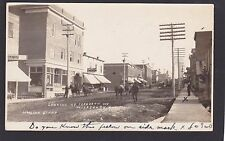 Circa 1905 Real Photo RPPC Postcard Looking up Ferguson Ave HAILEYBURY Ontario