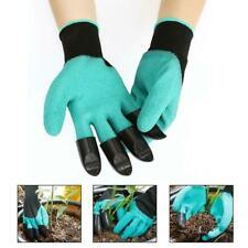 NEU Garten Handschuhe mit 4 ABS Kunststoff Krallen for Garten graben Pflanz X6O2