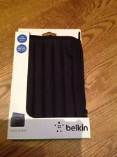 """Belkin Pleated Kindle Fire Sleeve Black Case Cover Tablet FITS E READERS 8"""" New"""