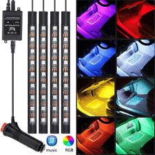 4X LED Car SUV Interior Decor Neon Atmosphere Light Strip Music Control Colorful