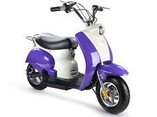 MotoTec 24v Electric Moped Kids 13+ Seat Storage Scooter Key Horn Headlight Rack