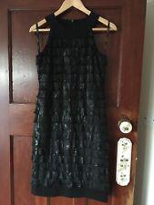 NWOT Joseph Ribkoff Little Black 1930s Flapper Style Tiered Ruffle Dress 10