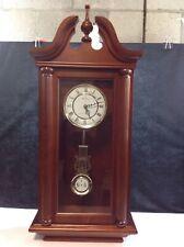 Bulova Westminster Whittington Chiming Pendulum Clock Solid Wood Case Heavy 36in