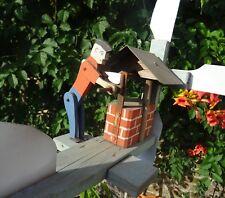 ancienne girouette de jardin personnafge articulé 1930 en bois et zing