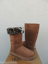 UGG CHESTNUT CLASSIC TALL ANIMAL SUEDE/ SHEEPSKIN BOOTS,  US 10/ EUR 41 ~ NIB