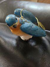 The Danbury Mint The Songbird Christmas Ornament Blue Jay Figurine