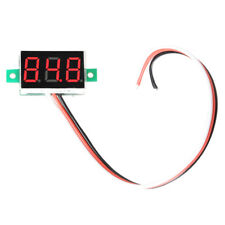 Portable Digital Voltmeter DC0-100V Red Light 0.36''LED Panel Voltage Meter Set