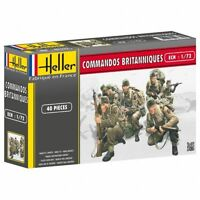 HELLER 1/72 WWII British Commandos 40 Plastic Soldiers AIRFIX REISSUE FREE SHIP