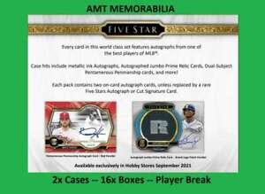 Ted Williams Boston Red Sox 2021 Topps Five Star 2X CASE 16X BOX BREAK #1