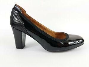 Next Heavenly Soles Black Patent Leather High Heel Shoes Uk 6 Eu 39