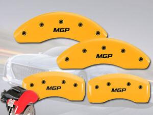 "2012-2013 Veloster Base Front + Rear Yellow ""MGP"" Brake Disc Caliper Covers"