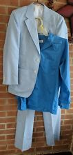 Towncraft Vintage 80's Sz S Blue Coat Blazer, Shirt, Pant Suit Set Men's Boys