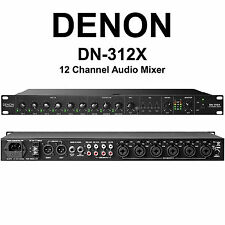 DENON DN-312X 12 Channel 1U Rackmount Analog Mixer with EQ and Priority Control