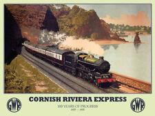 Cornish Riviera Express, GWR Railway Steam Train, Medium Metal Tin Sign