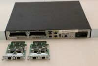 Cisco 1921 Integrated Router CISCO1921/K9 V05 with 2 Cisco VWIC2-2MFT-T1/​