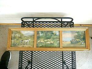 Vintage R. Atkinson Fox maybe rural landscape framed prints