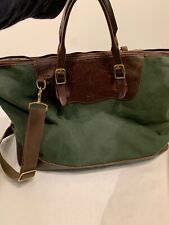 Billykirk Green Brown Canvas/leather Bag For J Crew Style No 470 USA Made
