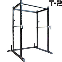 Titan T-2 Series Short Power Rack w/Dip Bars Lift Cage Bench pull up
