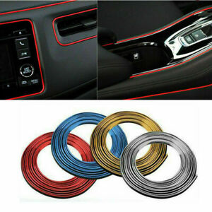 5M Car Inner Dashboard Panel Door Gap Edge Line Insert Molding Trim Decor Strip