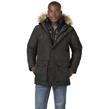 Men's Rocawear Big Hooded Parka with Bib Black 5XL #NJHSL-667