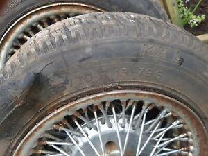 Bolt on wire wheels 13/5.5J used on 1978 MG Midget.