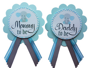 Elephant Boy Baby Shower Pin for Mommy or Daddy to Be Safari Jungle Grandma