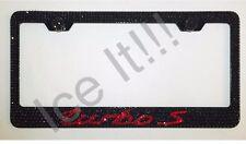 PORSCHE Turbo S Stainless Steel license plate frame W Swarovski Crystals
