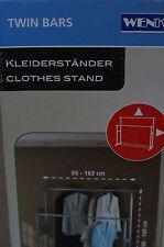 WENKO Twin Bars Kleiderständer rollbar verstellbar  Kleidung Aufbewahrung