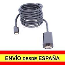 Cable Adaptador OTG HDMI Macho a USB Tipo C Macho Conectores Dorados 3 M. a1844