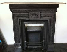 Original Restored Antique Victorian Cast Iron Bedroom Fireplace Small (BL497)