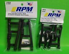 RPM 80242 Front & 80182 Rear Black A-Arms Traxxas VXL XL5 Rustler & Stampede 2wd