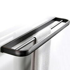 Oil Rubbed Bronze Wall Mounted Bathroom Towel Rack Bar Double Rail Holder