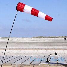 ||| WINDSACK WESTWIND ||| Windsocke Windanzeiger Flugplatz rot weiss Windspiel
