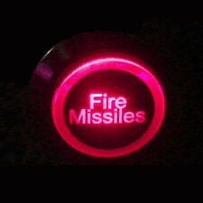 12V 19mm Push Button Red LED Light Fire Missiles Momentary Metal Switch Sales