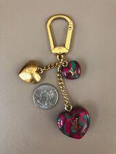 Auth LOUIS VUITTON Porte Cles Leopard Keychain