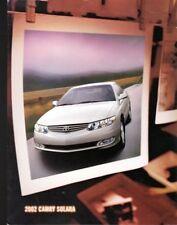 2002 02 Toyota  Camry Solara oiginal sales brochure