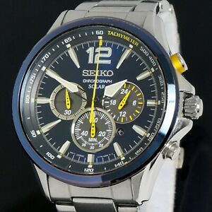 Seiko Jimmie Johnson Special Edition Solar Chronograph V175-0DM0 Stainless Steel