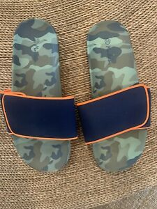 Mini Boden Boys Camo Slides Size 3