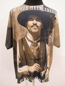 P5135 VTG Jerzees Men's Doc Holliday I'm Your Huckleberry T-Shirt Size 2XL