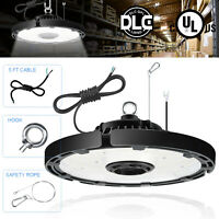 100W UFO LED High Bay Light 5000K Industrial Warehouse Lighting Fixtures UL DLC