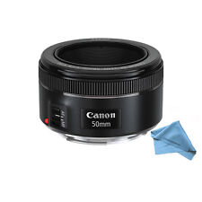 BRAND NEW Canon EF 50mm f/1.8 STM Lens + Cleaning Cloth for DLSR Cameras