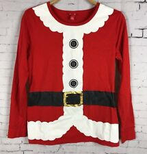 TARGET CHRISTMAS SHIRT XL GIRLS MRS. CLAUS RED PAJAMA TOP LONG SLEEVE SANTA (C12
