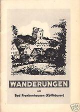 tour. Broschüre, Wanderungen um Bad Frankenhausen (Kyffhäuser), um 1965